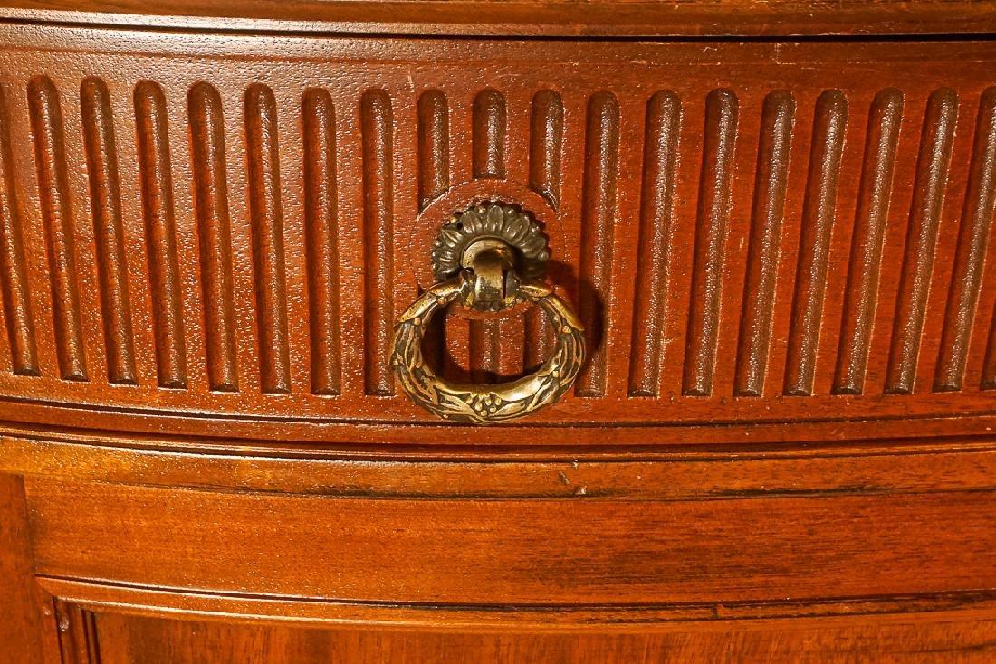 Louis XVI Style Demilune Console - 5