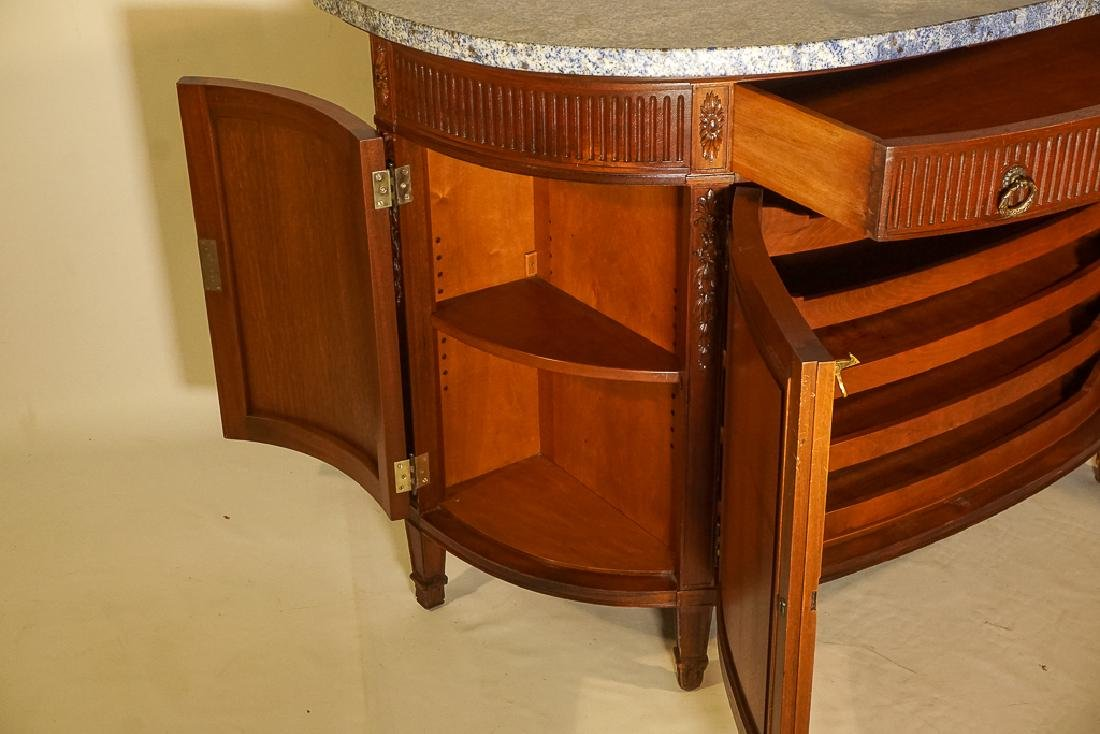 Louis XVI Style Demilune Console - 9