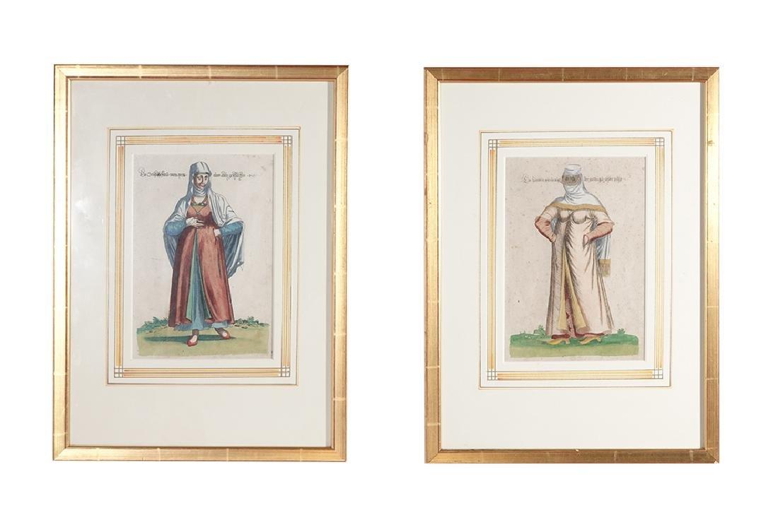 Pair of Engravings of Exotic Costumes