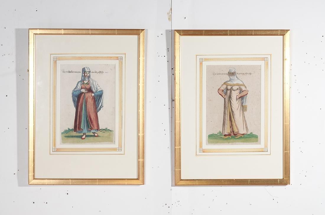 Pair of Engravings of Exotic Costumes - 2