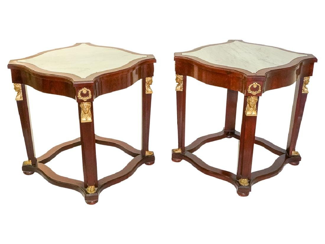 Pair Empire Style Side Tables