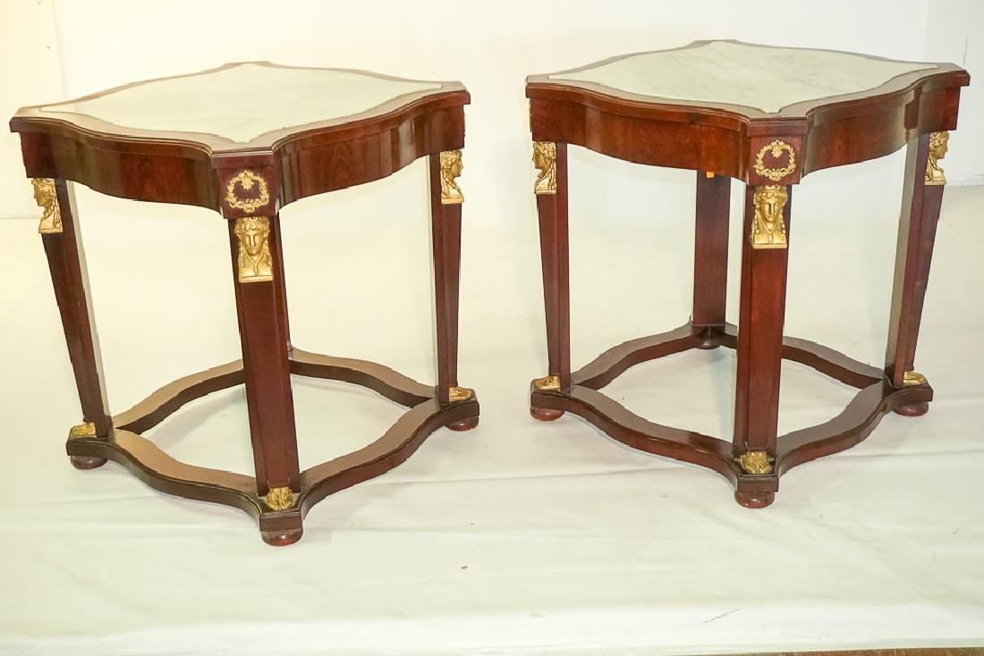 Pair Empire Style Side Tables - 2