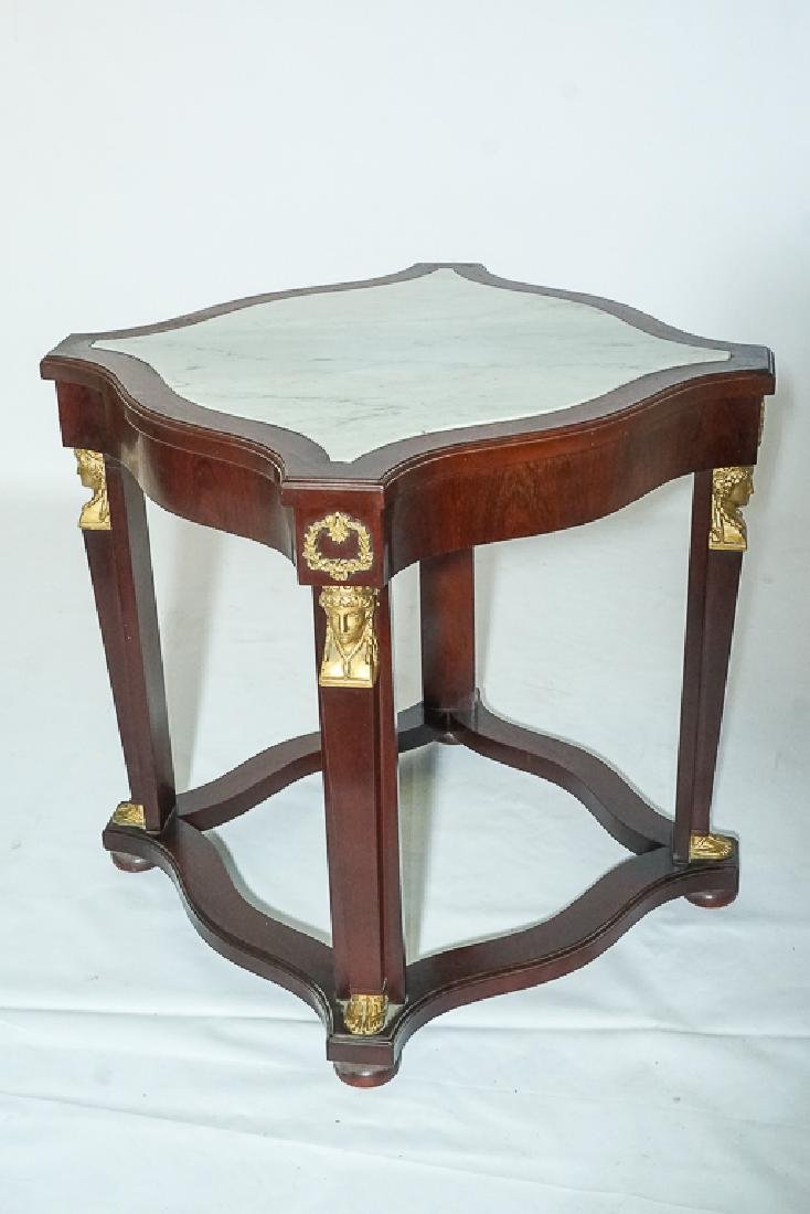 Pair Empire Style Side Tables - 3