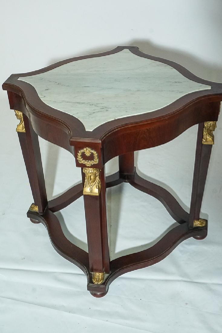 Pair Empire Style Side Tables - 4
