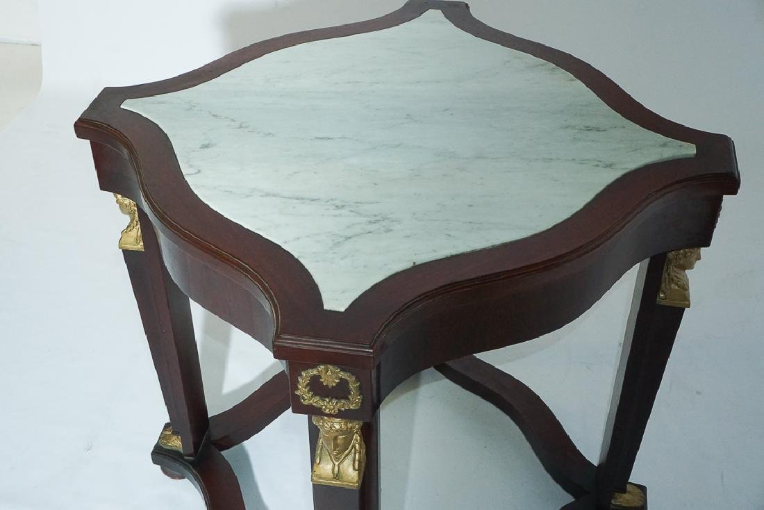 Pair Empire Style Side Tables - 5