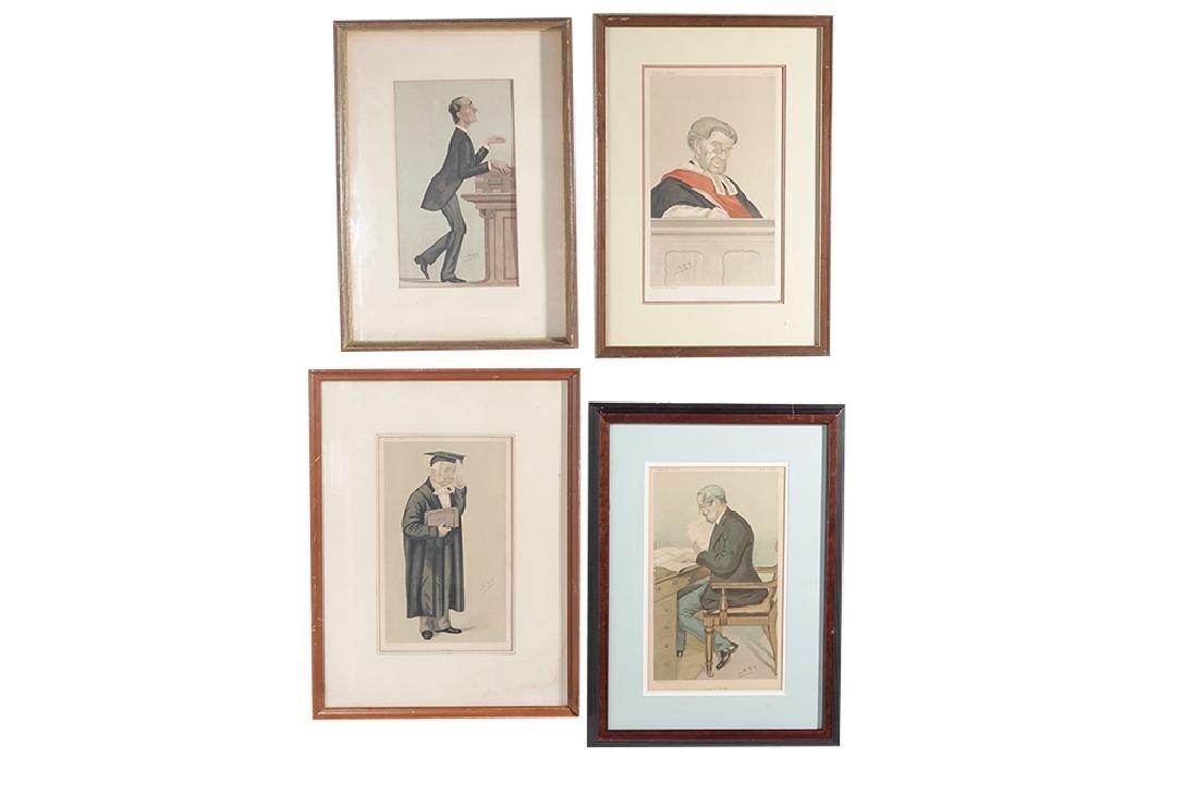 Set of Four (4) VANITY FAIR Prints by SPY