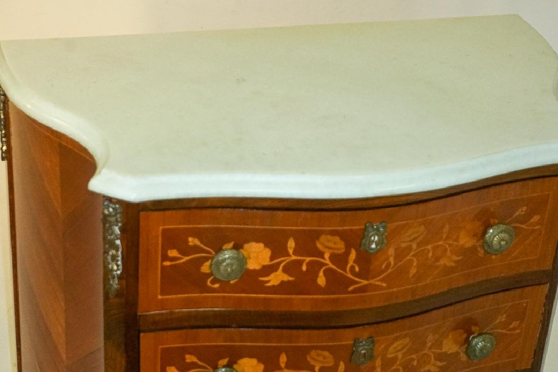 French Marquetry Commode - 3