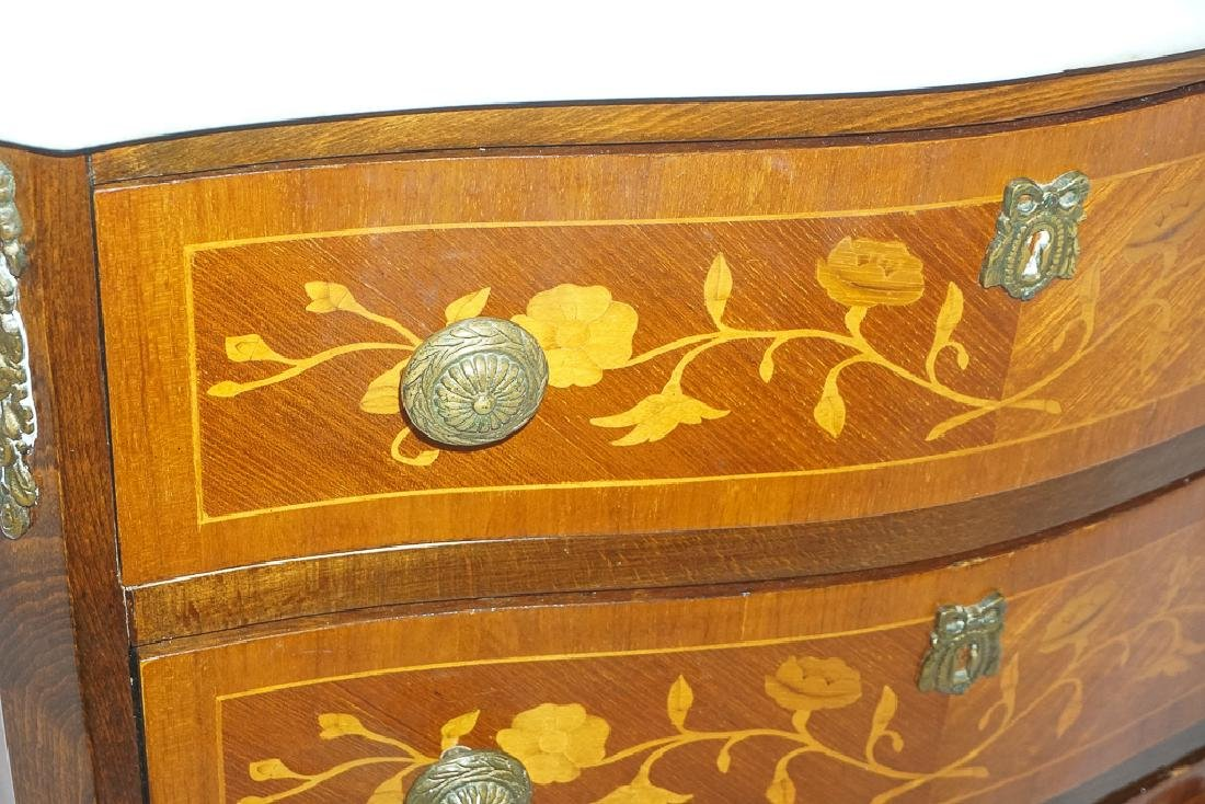 French Marquetry Commode - 4