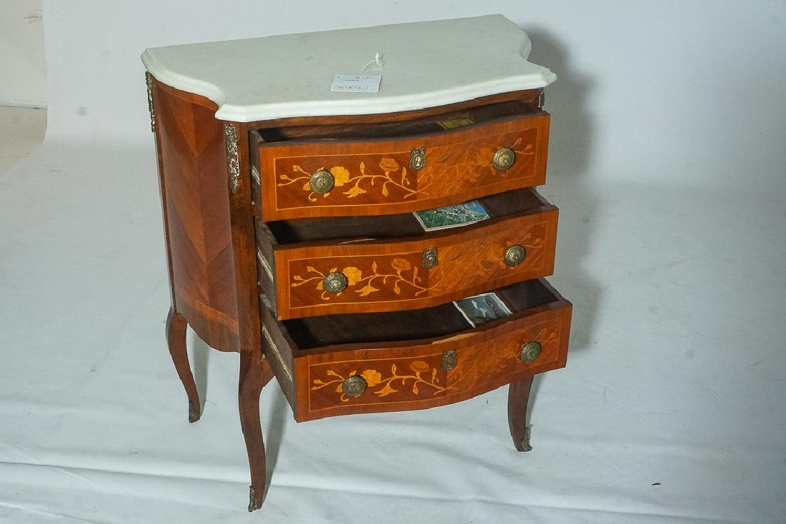 French Marquetry Commode - 9