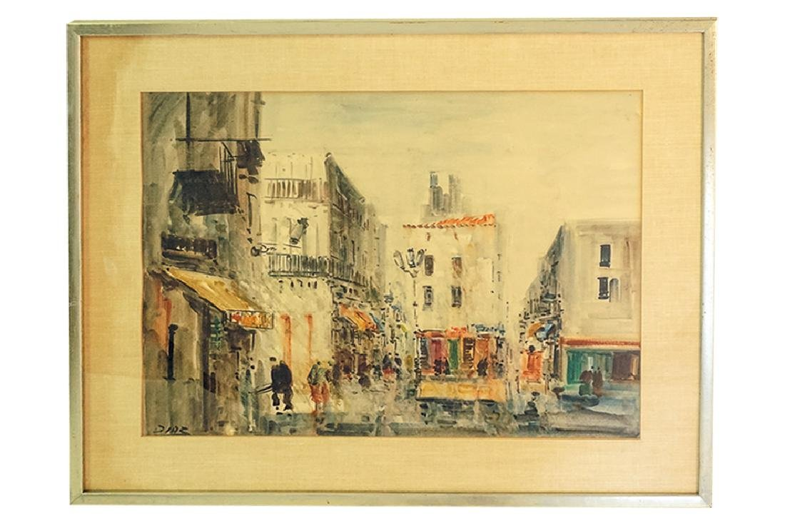 "European School, ""Lively Street Scene"""