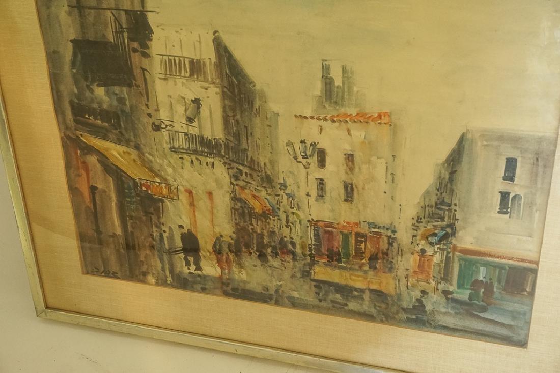 "European School, ""Lively Street Scene"" - 3"