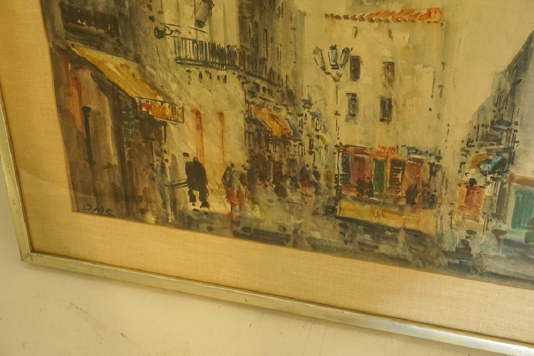 "European School, ""Lively Street Scene"" - 4"