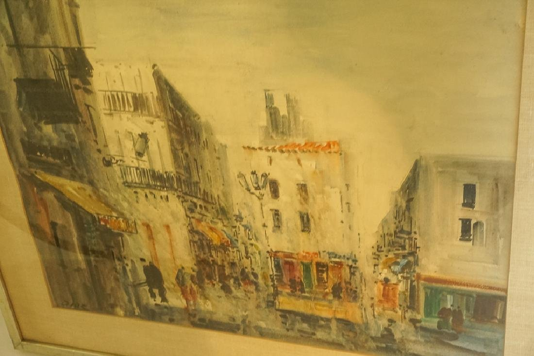 "European School, ""Lively Street Scene"" - 7"