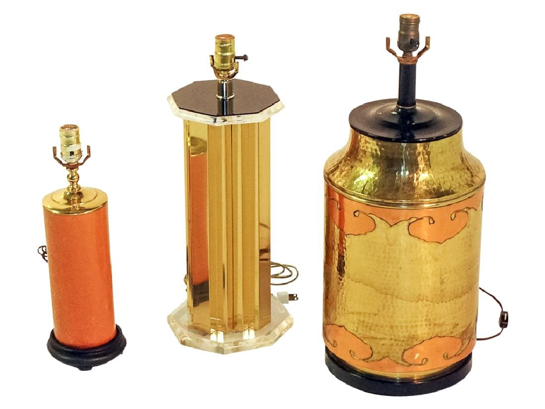 Group of Three Lamps