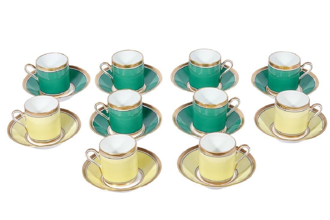 Ten (10) Richard GINORI Demitasse Cups