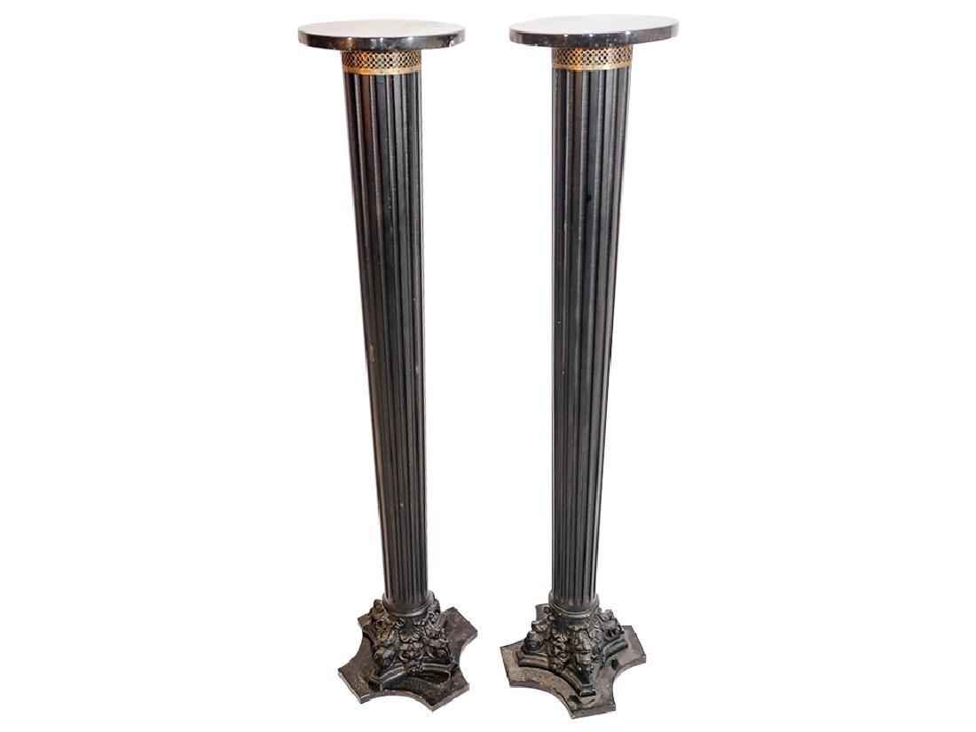 Pair of Columnar Pedestals