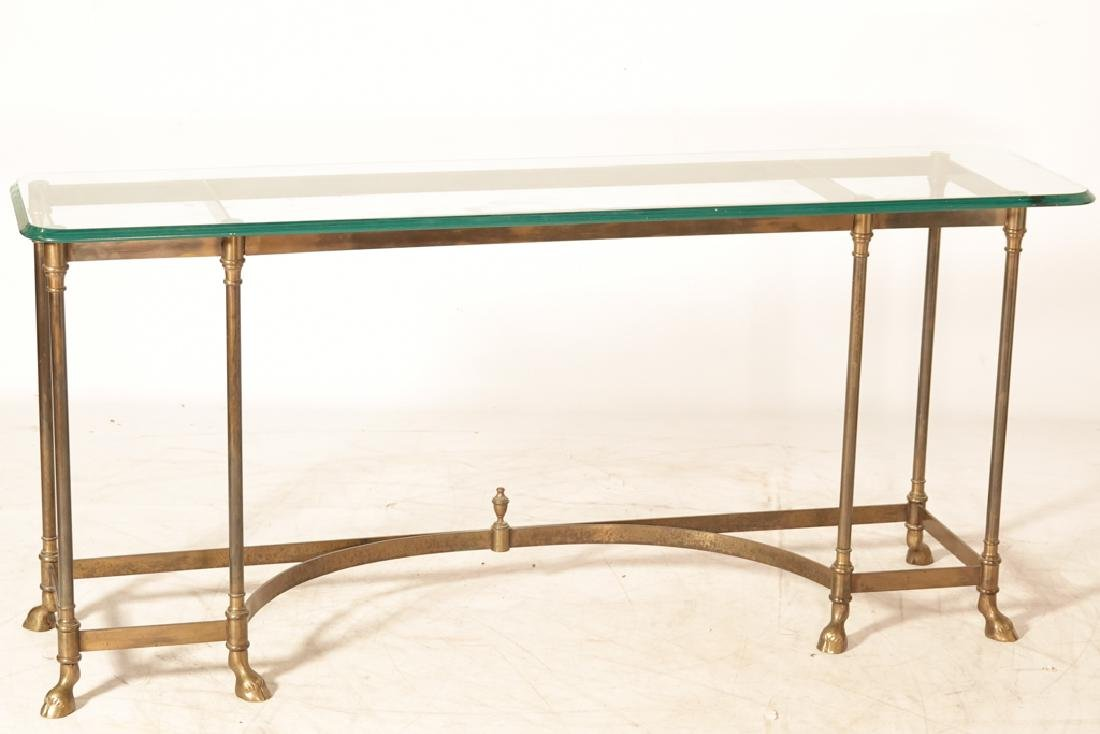 """LABARGE """"Hollywood Regency""""  Glass Top Console"""