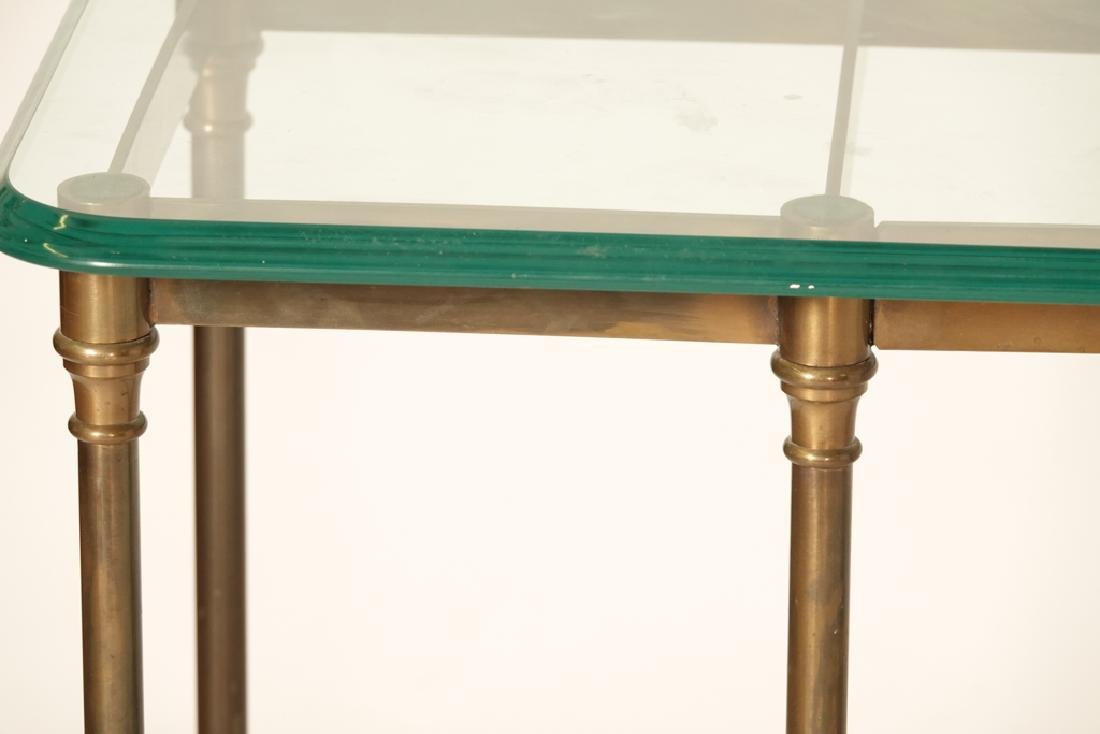 """LABARGE """"Hollywood Regency""""  Glass Top Console - 3"""