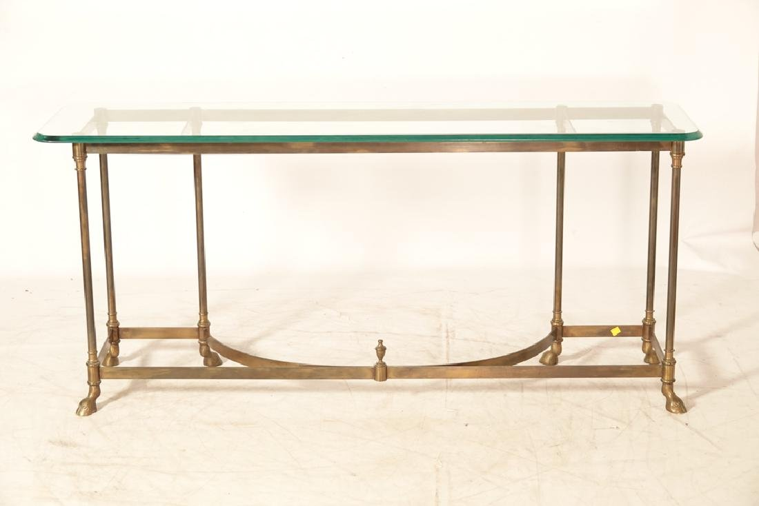 """LABARGE """"Hollywood Regency""""  Glass Top Console - 5"""