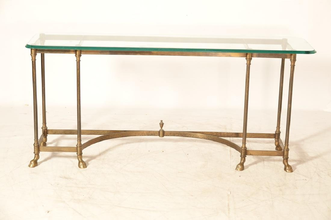 """LABARGE """"Hollywood Regency""""  Glass Top Console - 7"""