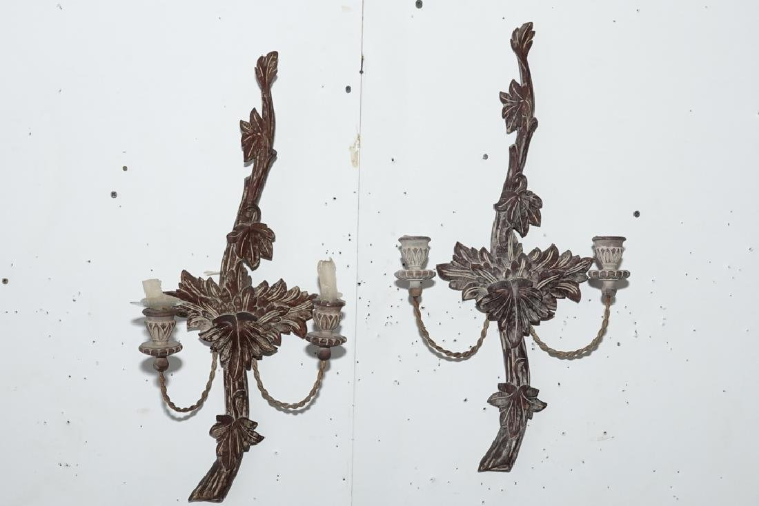Pair French Style Two Arm Sconces