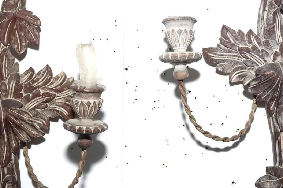 Pair French Style Two Arm Sconces - 4