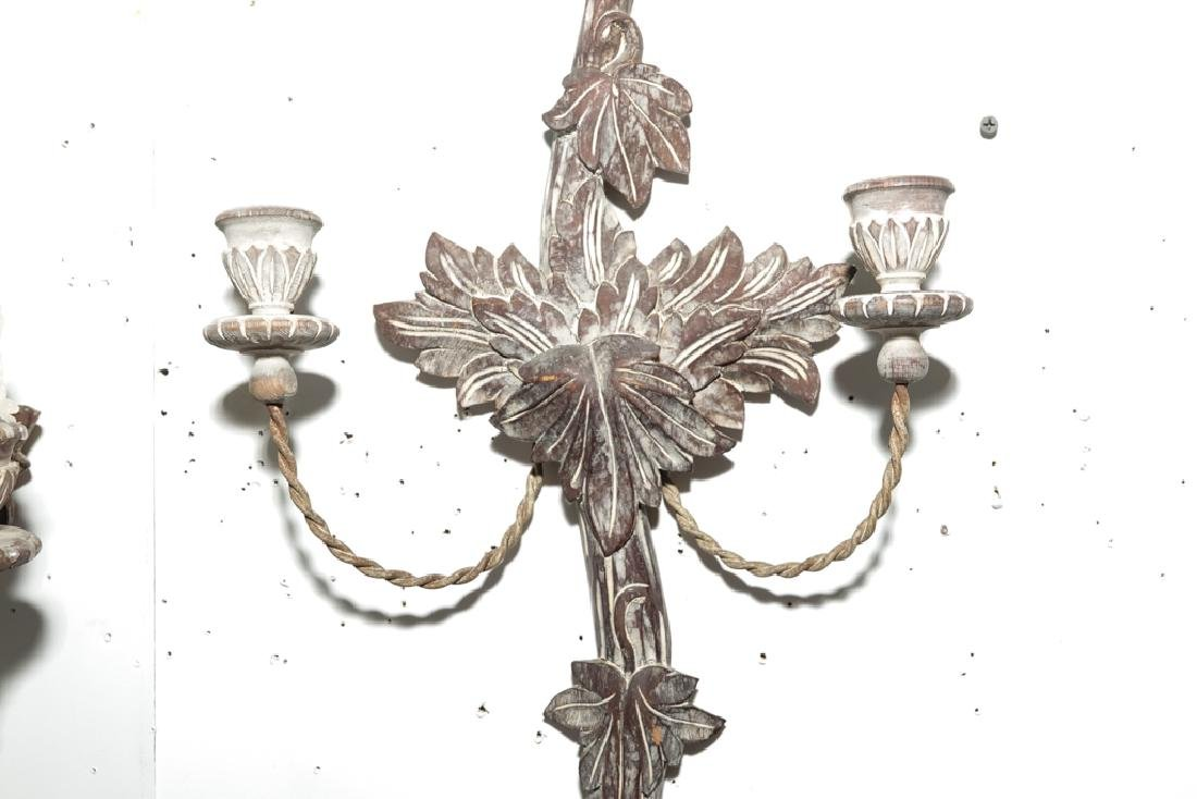 Pair French Style Two Arm Sconces - 7