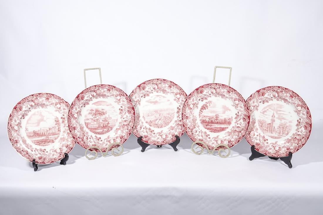 "WEDGWOOD ""Harvard"" 12 Commemorative Plates - 3"