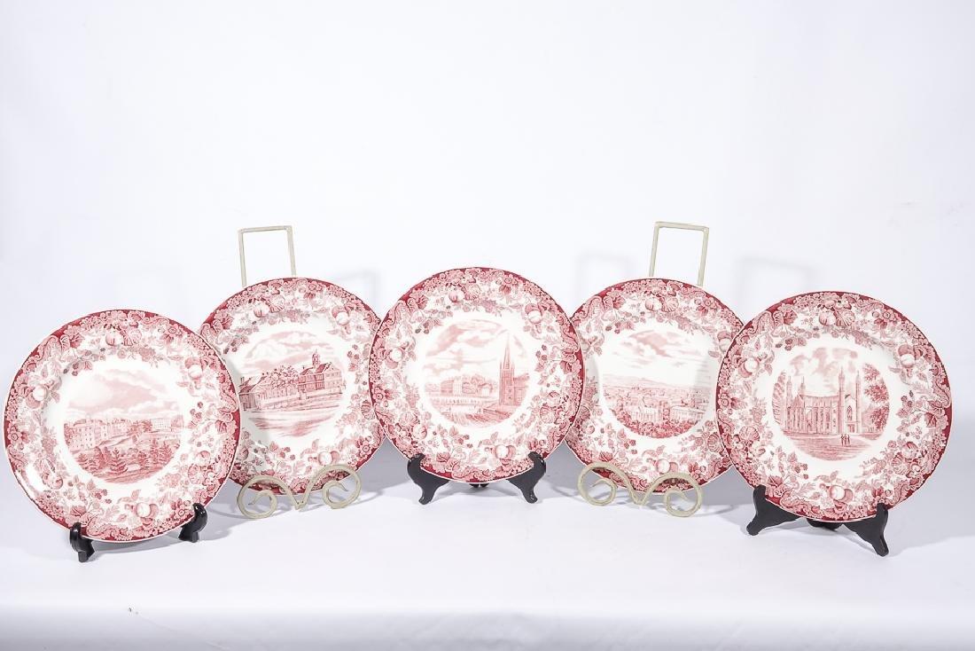 "WEDGWOOD ""Harvard"" 12 Commemorative Plates - 4"
