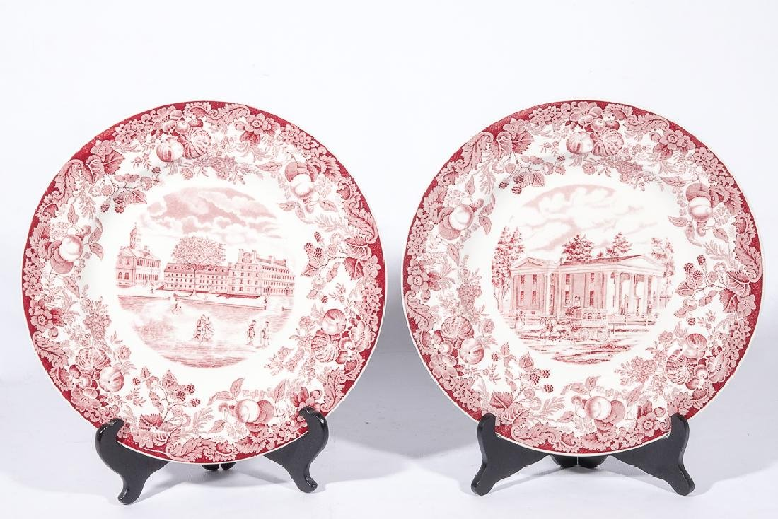 "WEDGWOOD ""Harvard"" 12 Commemorative Plates - 5"