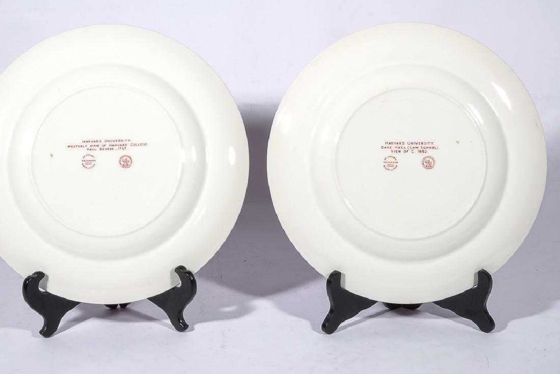 "WEDGWOOD ""Harvard"" 12 Commemorative Plates - 6"