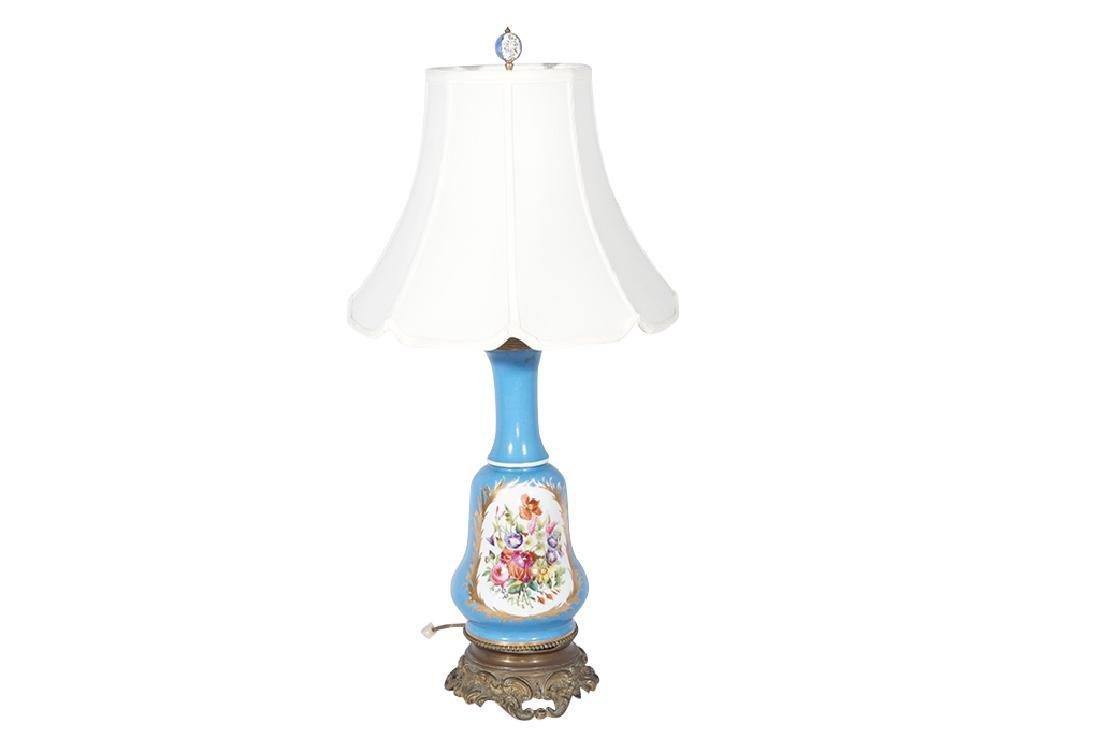 Napoleon III Sevres Style Lamp