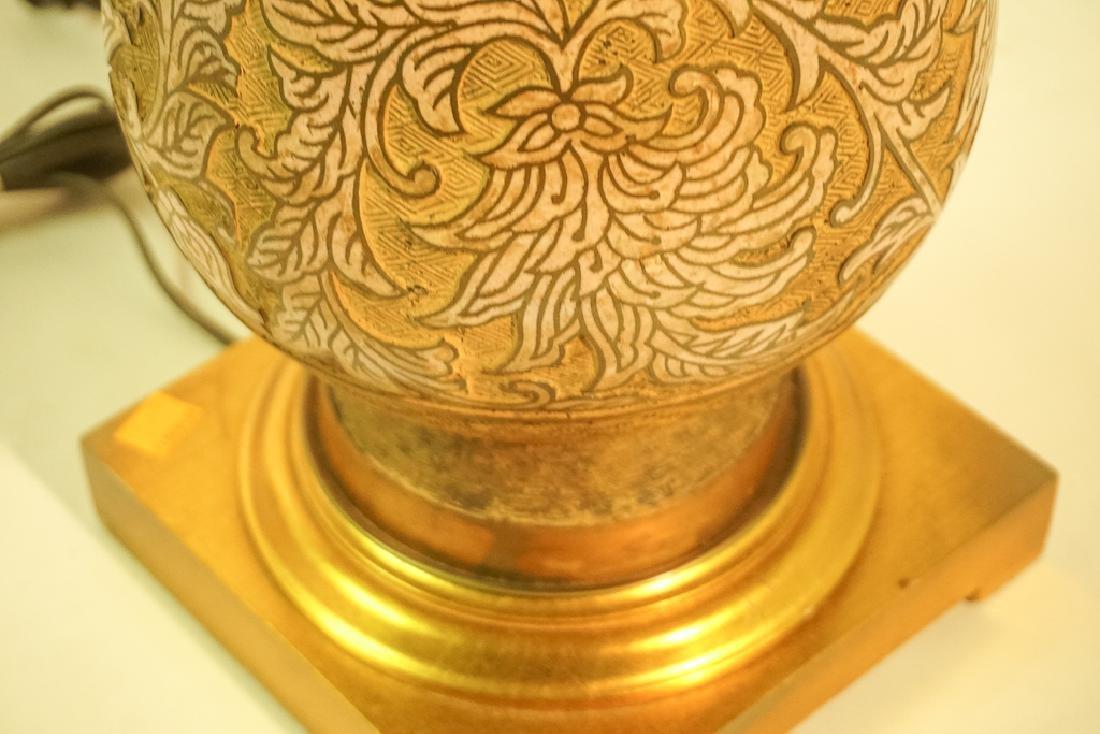 Mid Century Chinese Enamel & Brass Lamp - 7