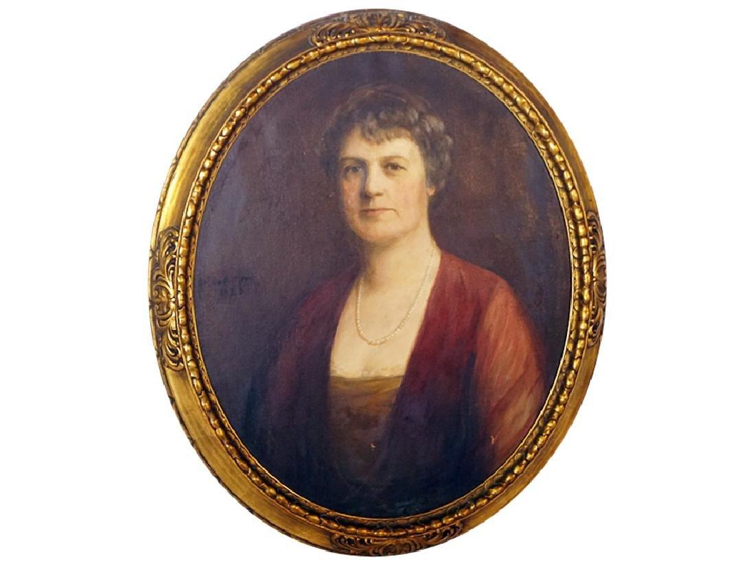 American School, Portrait of an Elegant Lady
