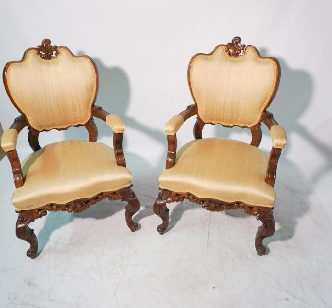 Pair of 20th c Rococo Revival Chairs