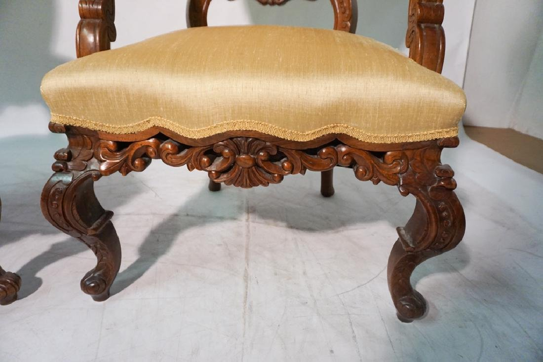 Pair of 20th c Rococo Revival Chairs - 3