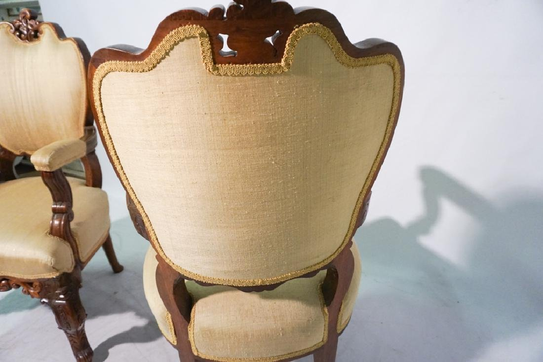 Pair of 20th c Rococo Revival Chairs - 4