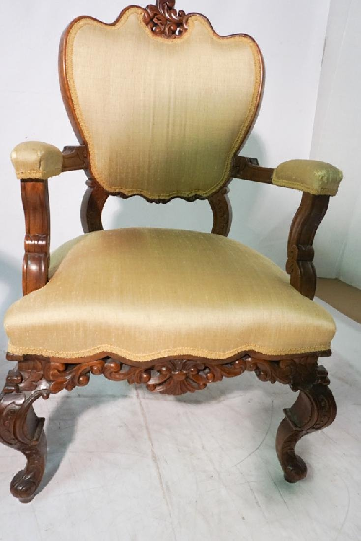 Pair of 20th c Rococo Revival Chairs - 6