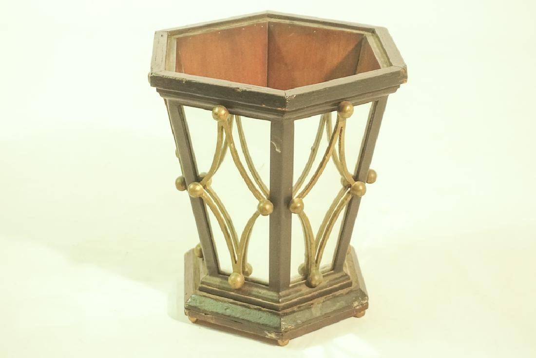 Mid 20th C. Mirrored Wastebasket or Planter - 2