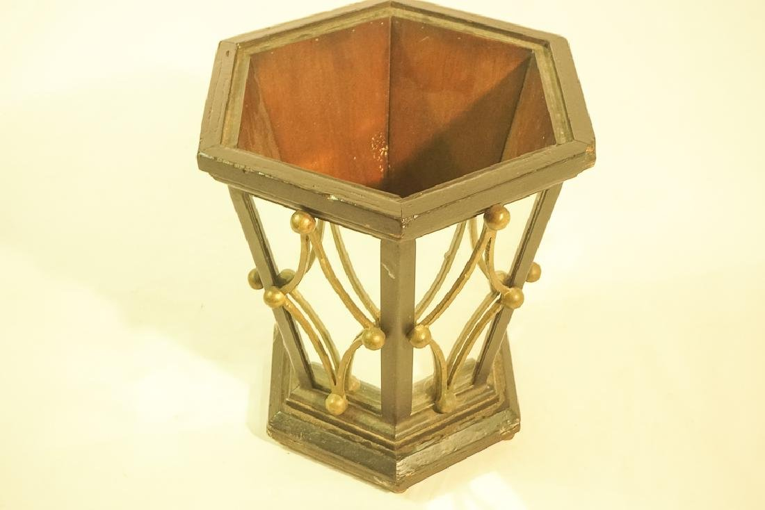 Mid 20th C. Mirrored Wastebasket or Planter - 3