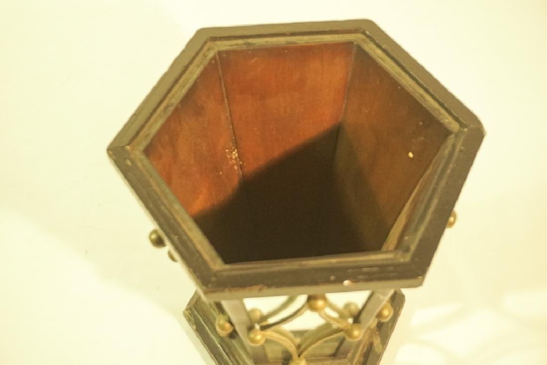 Mid 20th C. Mirrored Wastebasket or Planter - 8