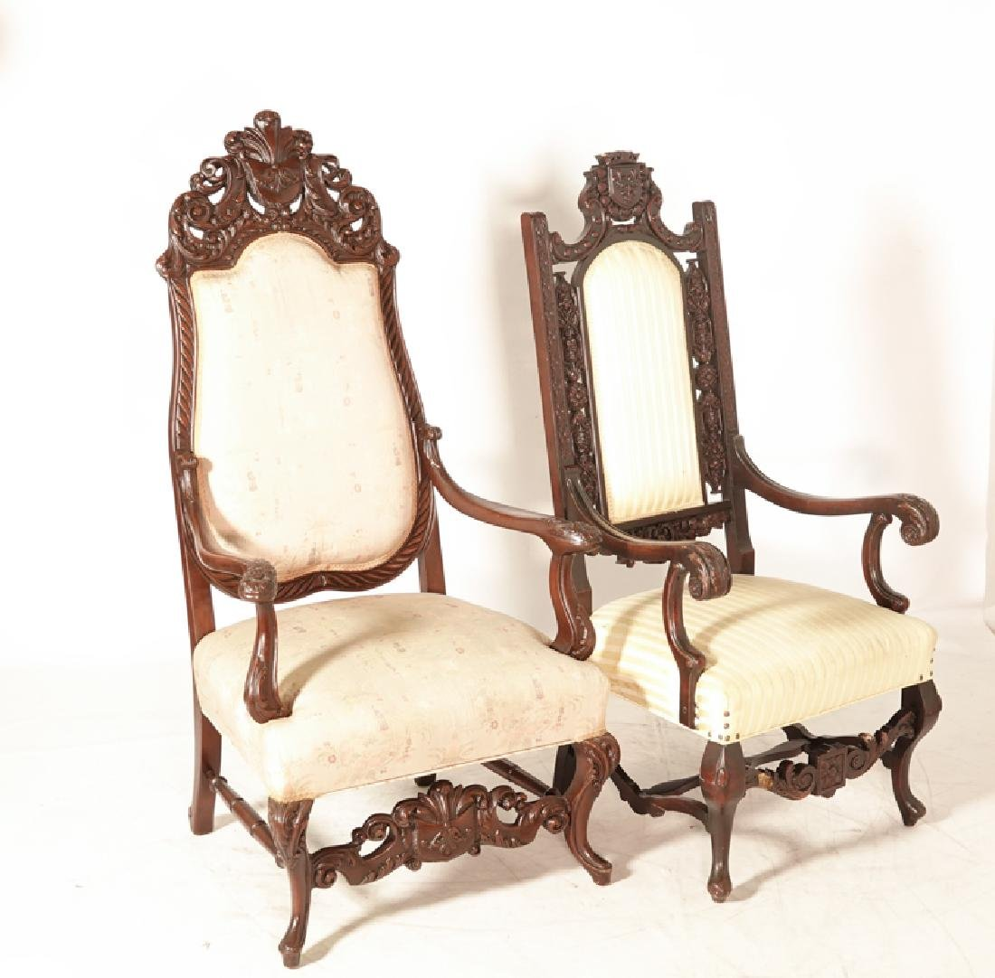 Two (2) Jacobean Style Armchairs