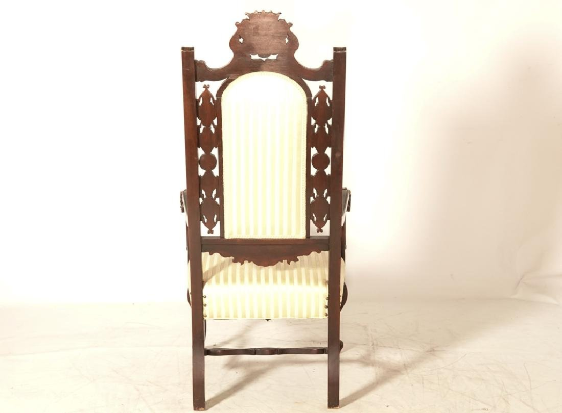 Two (2) Jacobean Style Armchairs - 3