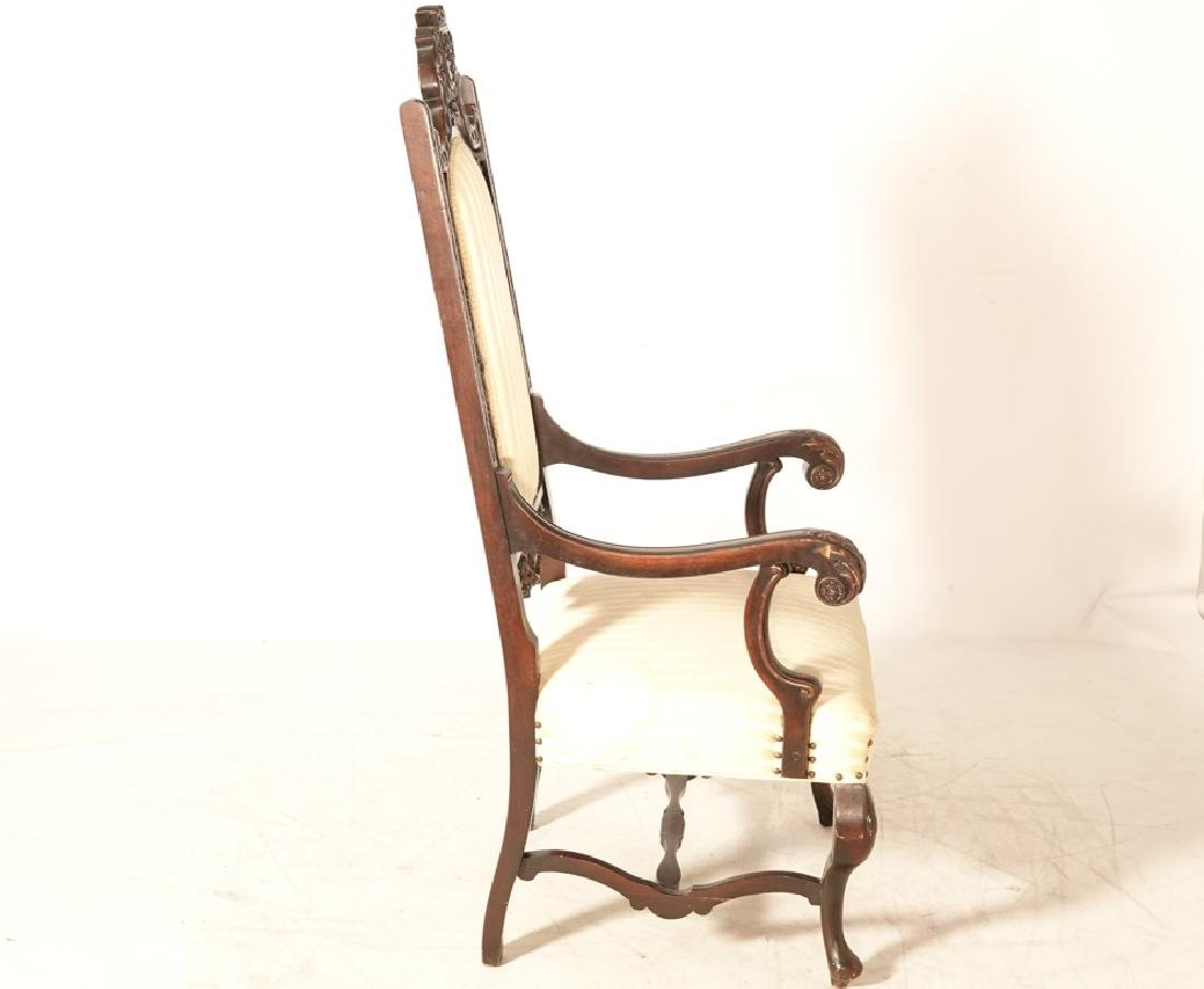 Two (2) Jacobean Style Armchairs - 4