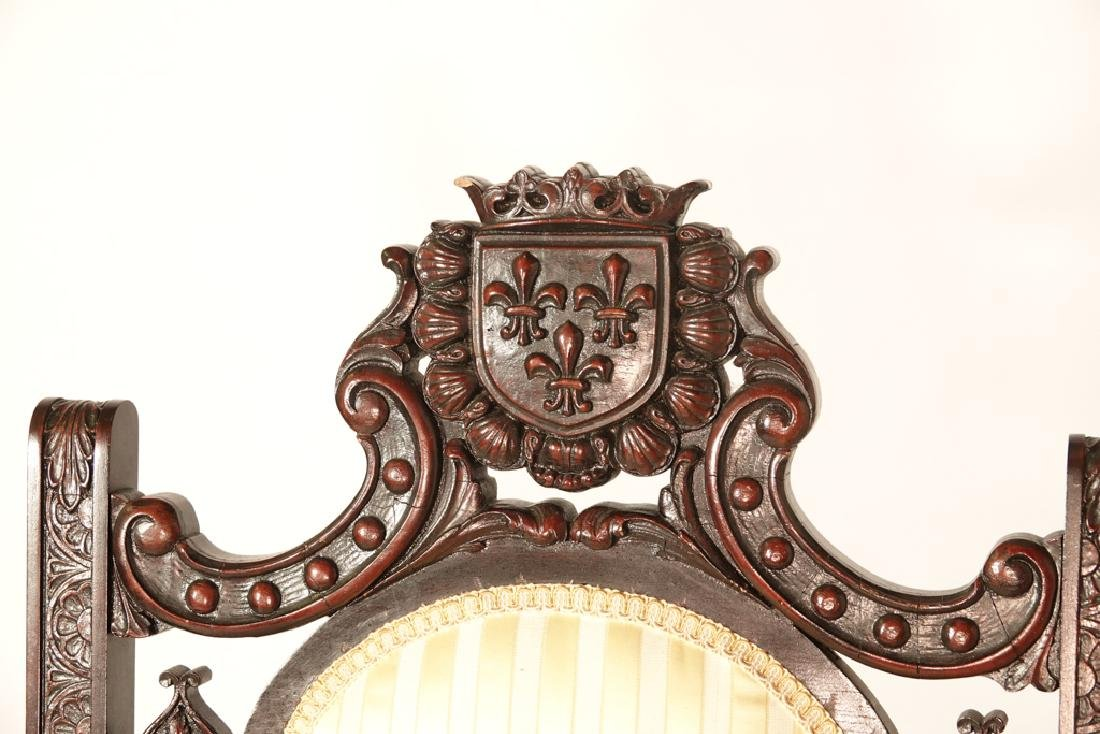 Two (2) Jacobean Style Armchairs - 5