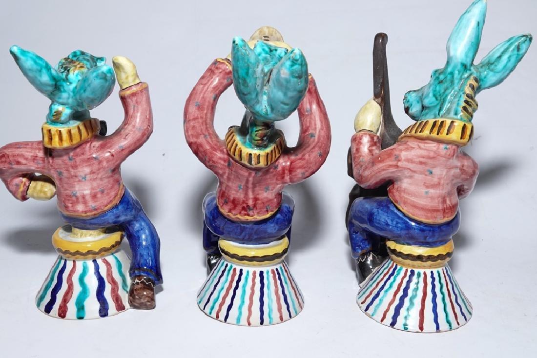 Set of Three (3) Italian Ceramic Donkeys - 10