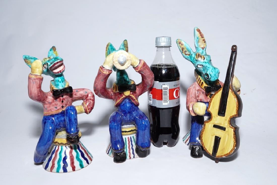 Set of Three (3) Italian Ceramic Donkeys - 7