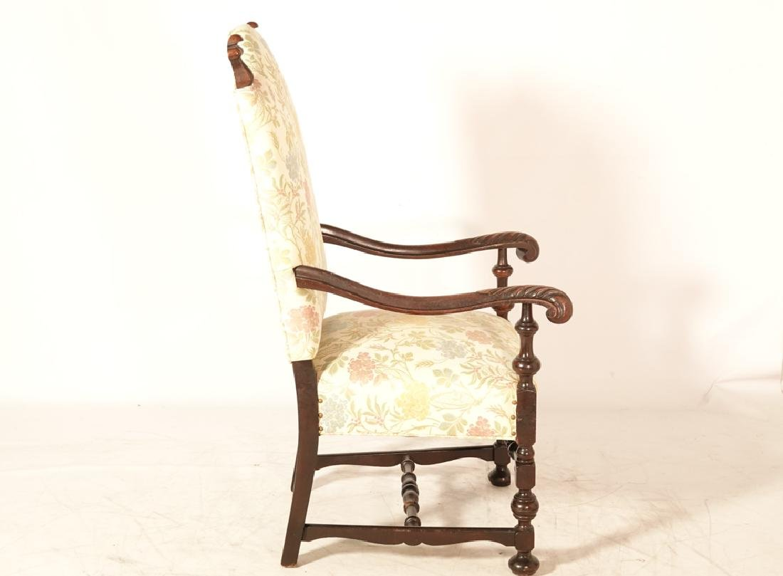 Two (2) Louis XIII Style Upholstered Armchairs - 4