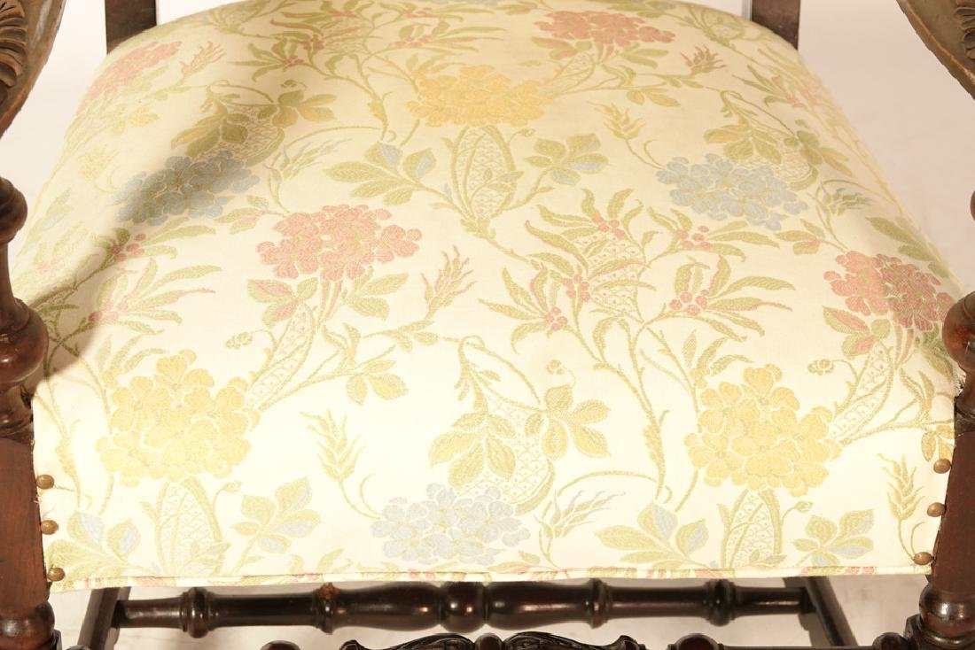 Two (2) Louis XIII Style Upholstered Armchairs - 9
