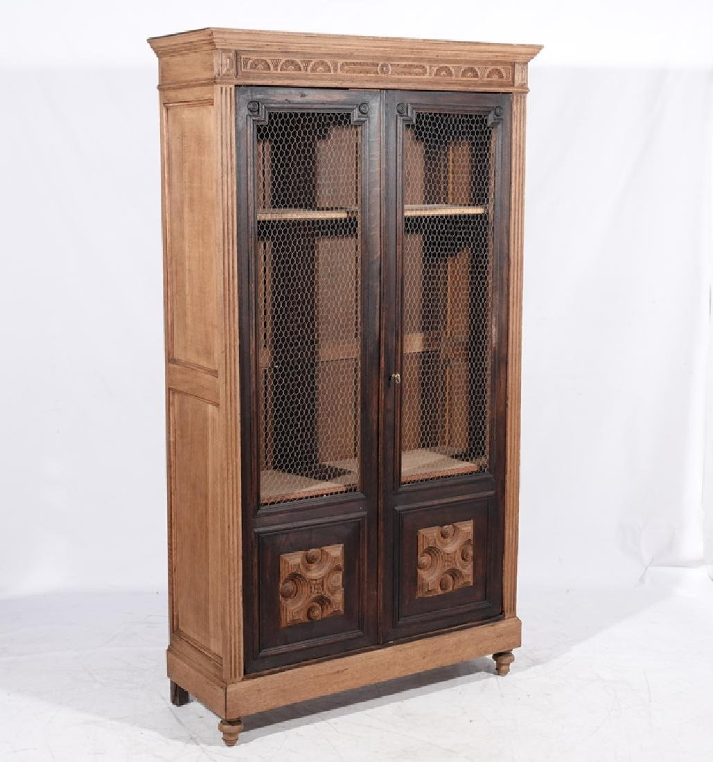 French Provincial Style Oak Biblioteque